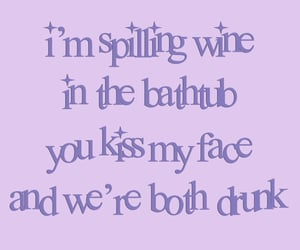 dress, lilac, and Lyrics image