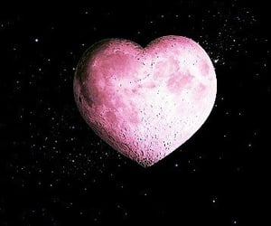 heart-shaped, lunar, and photo image