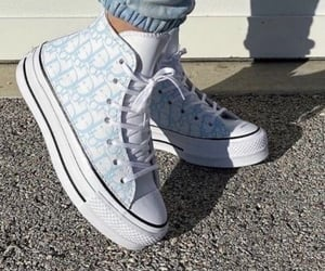 dior, shoes, and blue image