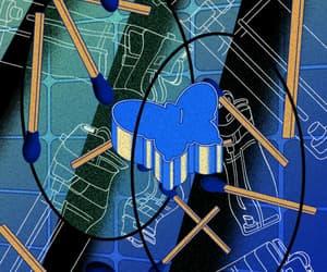 art, illustration, and vaporwave image