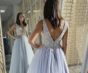 blue, blue dress, and lace image