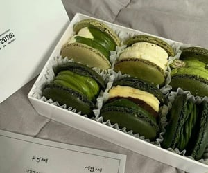 green, dessert, and food image