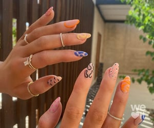 nails, kylie jenner, and manicure image