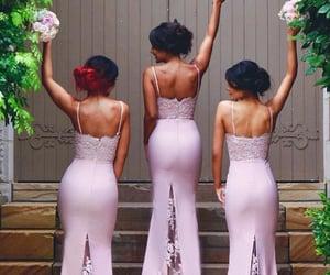 bridesmaid, fashion, and bridesmaid dress image