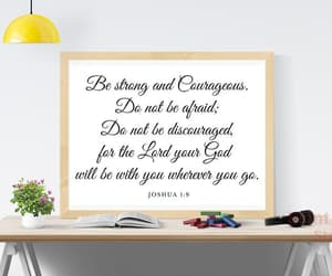courageous, living room decor, and scripture wall decor image