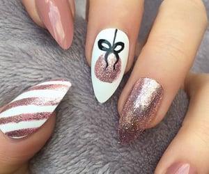 hand, christmas, and fake nails image