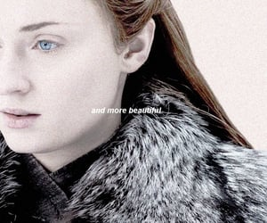 a song of ice and fire, sophie turner, and quote words text image