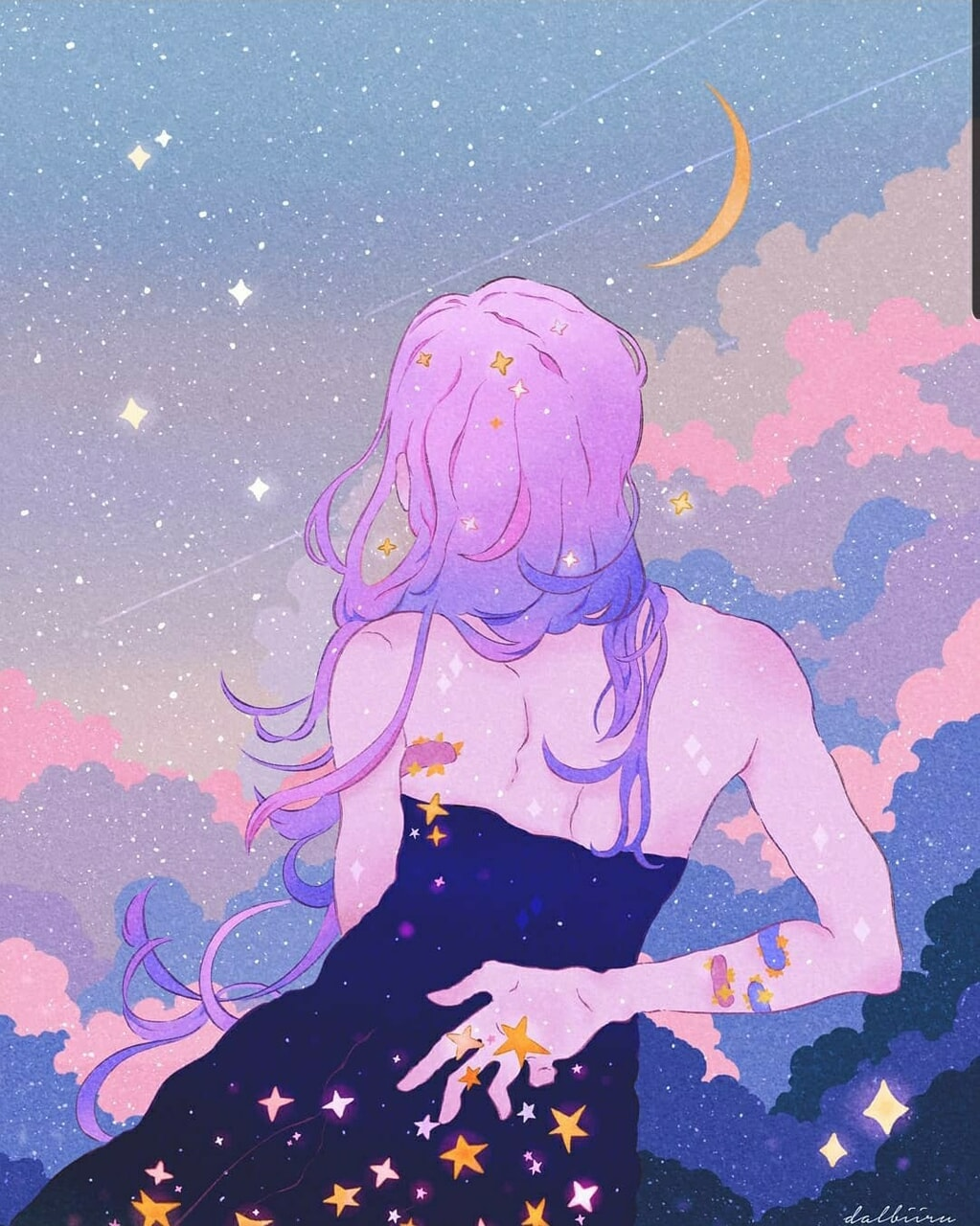 anime, background, and clouds image