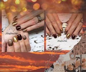long nails, gel polish, and nails image