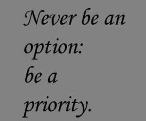 never, priority, and option image