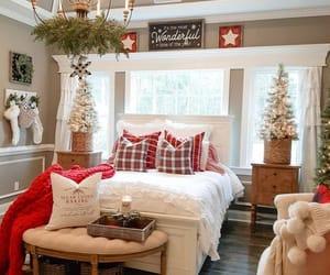 christmas, interior, and bedroom image