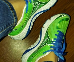 blue, green, and sneakers image