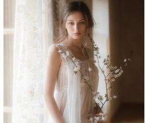 nightgown, sheer, and nightie image