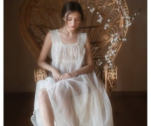 nightdress, nightgown, and sheer image