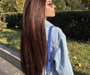 beauty, girl, and brown image