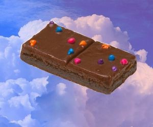 aesthetic, brownie, and chocolate image