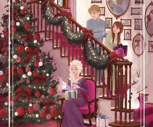 christmas, disney, and frozen image