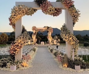 flowers, wedding, and and marriage image image