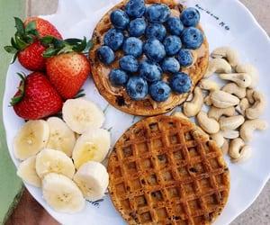 banana, blueberries, and comida image