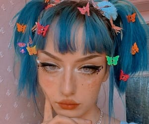 blue hair, dyed hair, and ig beauty image