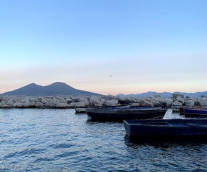 boats, italy, and Naples image