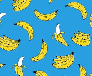 banana, blue, and design image