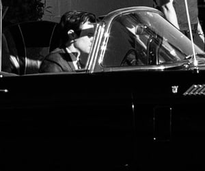 and, black and white, and car image