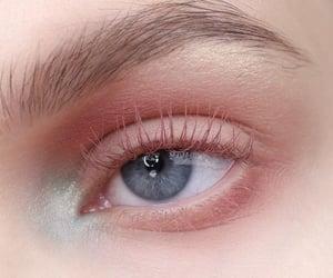 pink, makeup, and blue image