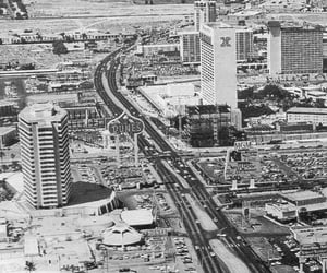 black and white, old, and Las Vegas image