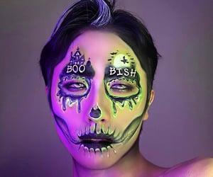 Halloween, makeup artist, and makeup image