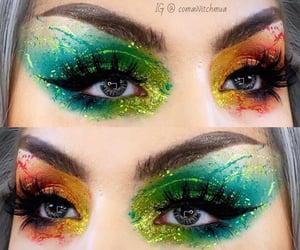 makeup art, glam makeup, and crazy makeup image