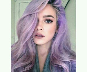 color hair, purple hair, and fantasy color hair image