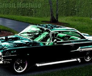 2-door, green machine, and 1960 chevrolet impala image