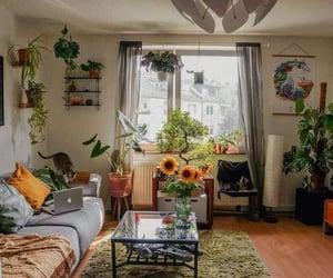 bedroom, indie, and plants image