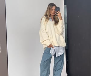baggy, blonde, and fashion image