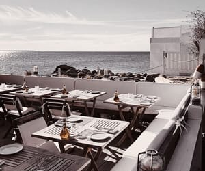 beach, holiday, and restaurant image