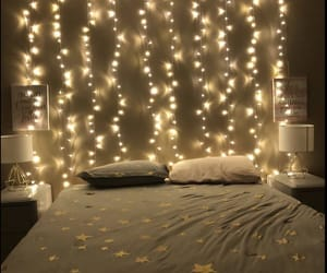 lights, decor, and stars image