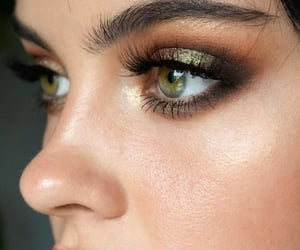beauty, lashes, and make image
