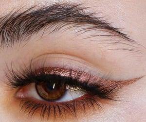Dark gold eyeliner
