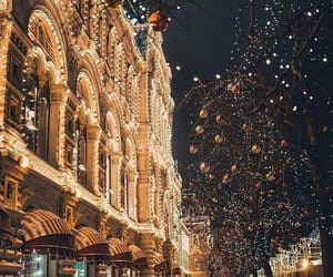light, christmas, and moscow image
