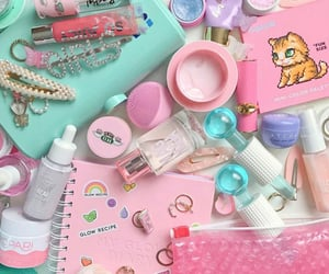 blue, tatcha, and pink image