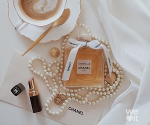 chanel, coffee, and earring image