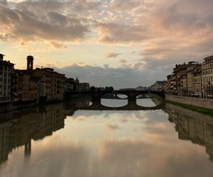 firenze, italy, and tramonto image