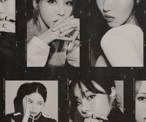 b&w, girl group, and kpop image