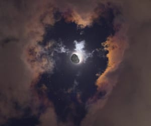 cloud, moon, and night image