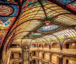 Grand Hotel, stained glass, and mexico image