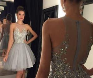short prom dresses, prom dresses 2021, and beaded prom dress image