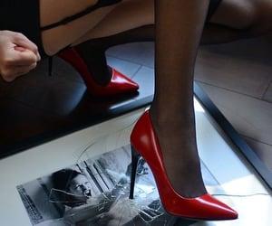 feminine, femme fatale, and heels image