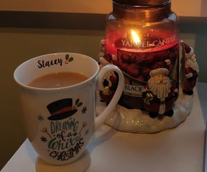candle, festive, and holiday image