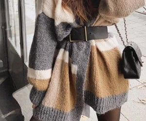 sweater, winter, and woman image